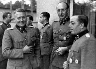 Hermann Fegelein, Dr. med. Edwin Jung, Franz Rehbein, Karl Gesele, and Albert Fassbender on the Eastern Front.