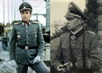 "Maximilian Schell as Bittrich in ""The Bridge of Arnhem"" and on the right the original Wilhelm ""Willi"" Bittrich."