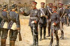 EK award ceremony by Kaiser Wilhelm I for the heroic deeds of the German-French War.