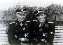SS Obersturmführer and Knight's Cross bearer: Willi Hein (left) and Kurt Schumacher (right).