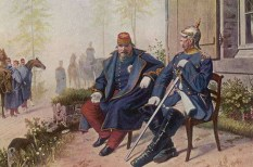Otto von Bismarck (right) and Napoleon III.