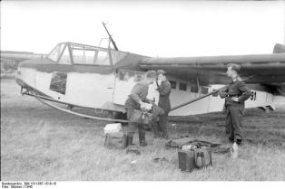 Luftwaffe DFS230 glider as used for troop insertion during Operation Rösselsprung.