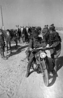 SS cavalry in the occupied Soviet Union, June 1942.