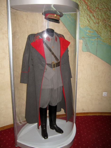 Unable to capture Tito, the Germans did find his marshal's uniform in Drvar, and later placed it on display in Vienna.