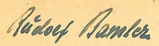 Detailed enlargement of Bamler's signature on his CV of May 7, 1950 (Bundesarchiv, Militärarchiv Freiburg im Breisgau).