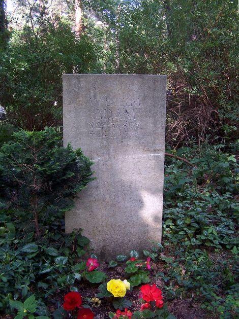 Oberst Wilhelm Adam's grave at the Heidefriedhof in Dresden