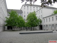 The courtyard in the Bendlerblock where the 20 July conspirators were executed. The Memorial to the German Resistance is located in the buildings to the left of the photo.