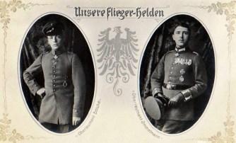 Our aviation heroes Lieutenant Bölcke and Lieutenant Immelmann.
