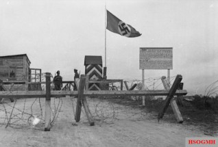 German control post on the Demarcation Line.