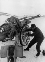 The leFH 18M being used in Yugoslavia during World War II.