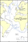 Map of the cruises of Admiral Graf Spee and Deutschland.