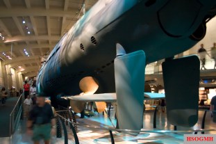 Underside of U-505.