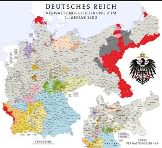 Map of the Reich, 1900.