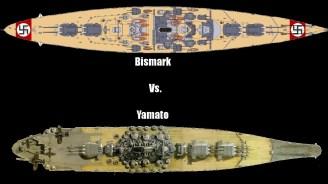 Bismarck and Yamamato comparison.