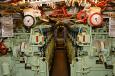 U-995 diesel engine room.