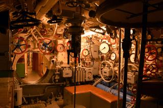 U-995 control room.