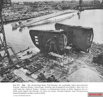 Article on the capsized battleship.