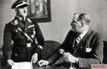 Josef Dietrich with Hitler's adjutant Wilhelm Friedrich Brückner in the Führer's apartment, Berlin.