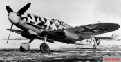 """Rudi Müller's Messerschmitt Bf 109 G-2 / R6 """"Yellow 3"""" (work number: 14810) in Petsamo (in the border region of Russia to Finland and Norway) with winter tint , March 1943."""