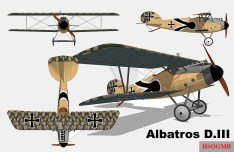 """Views of an Albatros D.III with """"Lozenge camouflage""""."""