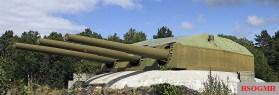 Gneisenau's 28 cm turret Caesar at Austrått Fort, Norway.