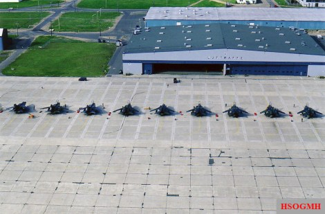 Luftwaffe Panavia Tornados at CFB Goose Bay.