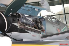 Bf-109 in the Hartmann color scheme on display at the Evergreen Aviation & Space Museum.
