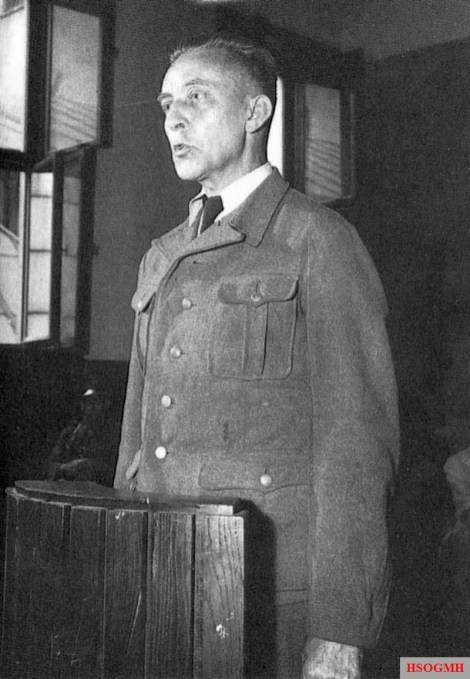 Stroop before a Polish court in 1951.