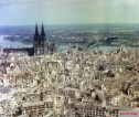 During World War II, carpet-bombing by Allied forces leveled up to 80 percent of the historic buildings in Germany's main cities in an unprecedented wave of destruction. Here, at aerial shot of Cologne taken in 1945.