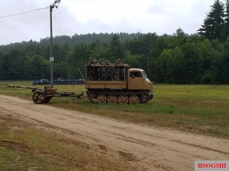 Raupenschlepper towing an anti-tank gun.