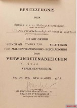 Soldbuch and documents.