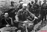 Rudolf von Ribbentrop (left) and Max Wünsche 1944 on the invasion front near Norrey -en- Bessin.