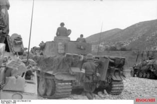 Sani walking behind a Tiger 1 in Tunisia, 1943.