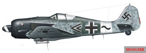 "Fw 190A ""Sturmbock"" fighter belonging to the unit."