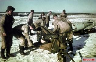 Luftwaffe ground crew work winter snow