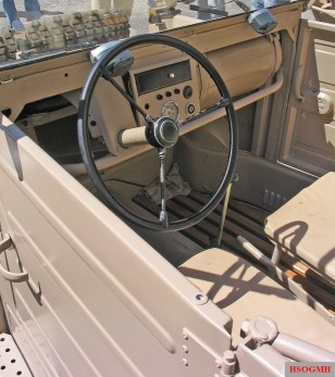 Interior of the VW type 82 Kübelwagen.