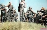 """Heer combat infantrymen taking a """"Feuerpause"""" (firebreak), a cigarette break or a short rest break - in their advance in Russia, summer of 1942."""