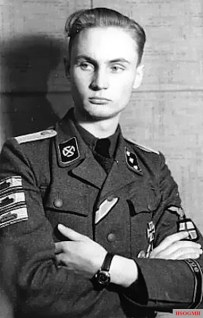 "SS Untersturmfuhrer Johann Petter Balstad ( Lebensrune.png24 September 1924 in Norway , Todesrune.png1985 in Oslo ) of the 7th Company / SS Panzergrenadier Regiment 23 ""Norge""."