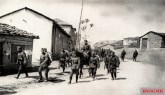 Bulgarian troops entering village in Northern Greece in April, 1941.