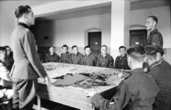 Cadets taking part in a classroom exercise in 1942/43.
