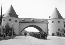 Main gates of the school, 1942