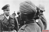 General Field Marshal Erwin Rommel inspecting a unit of the Indian Legion in France, February 1944.