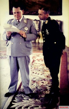 Reichsmarschall Hermann Göring (Oberbefehlshaber der Luftwaffe) and Generaloberst Hans Jeschonnek (Chef des Generalstabes der Luftwaffe) at Führerhauptquartier (FHQ) Schloss Kleßheim, 7-10 April 1943, in the event of the formal visit of Italian dictator Benito Mussolini to Germany.