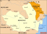 Romania after the territorial losses of 1940. The recovery of Bessarabia, roughly corresponding to the Moldavian Soviet Socialist Republic, was the catalyst for Romania's entry into the war on Germany's side.
