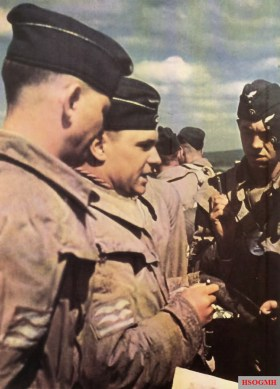 """A group of Focke Wulf Fw 200 """"Condor"""" pilots preparing for a mission in 1940."""