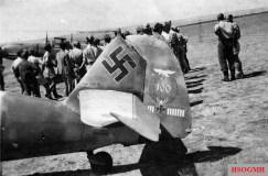 Tail of Bär's Messerschmitt Bf 109F-4 with the Stab I./JG 77.