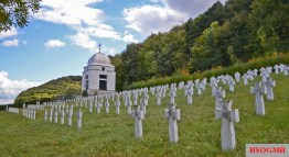 Memorial to SS-Galizien division in Chervone, Lviv Oblast, western Ukraine.