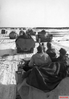 The relief attempt begins. Tanks and halftracks of 1st Panzer Division begin movements towards the pocket, early February 1944.