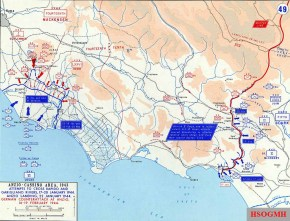 Force dispositions at Anzio and Cassino January / February 1944.