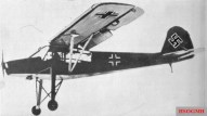 A Fieseler Fi 156 Storch similar to the one Reitsch landed in the Tiergarten near the Brandenburg Gate during the Battle of Berlin.